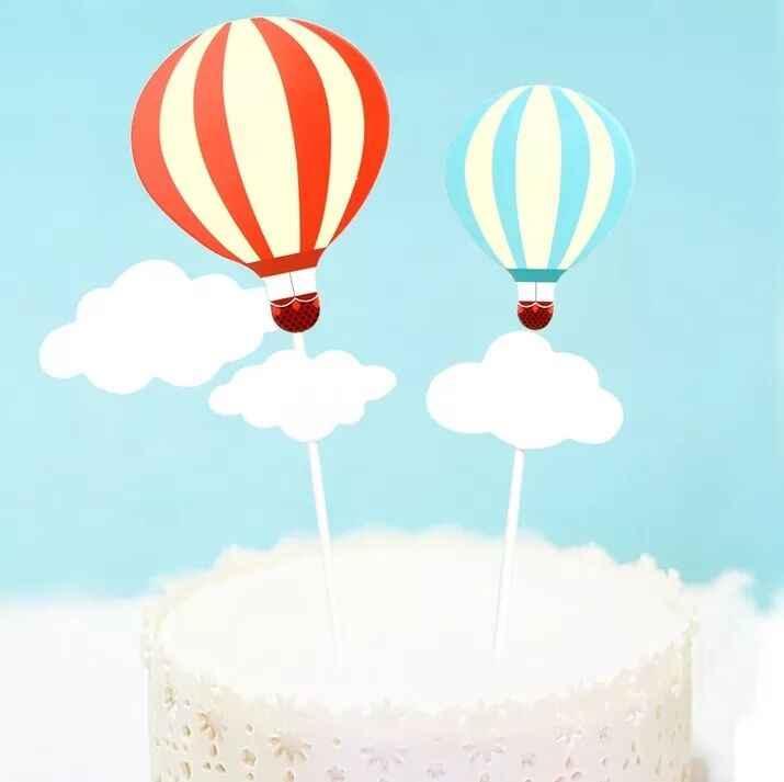 1 Uds. Globos coloridos decoración pastel Toppers fuentes de fiesta Cupcake tutú pastel Mesa cumpleaños adornos de pastel de fiesta niños niño