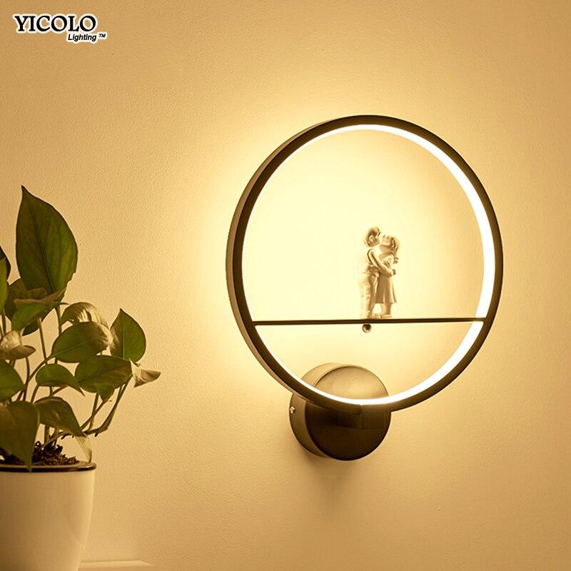 Lámparas de pared modernas Arte Ángel nórdico creativo para sala de estar dormitorio iluminación de cabecera soporte led lustre Home Dero de alta potencia