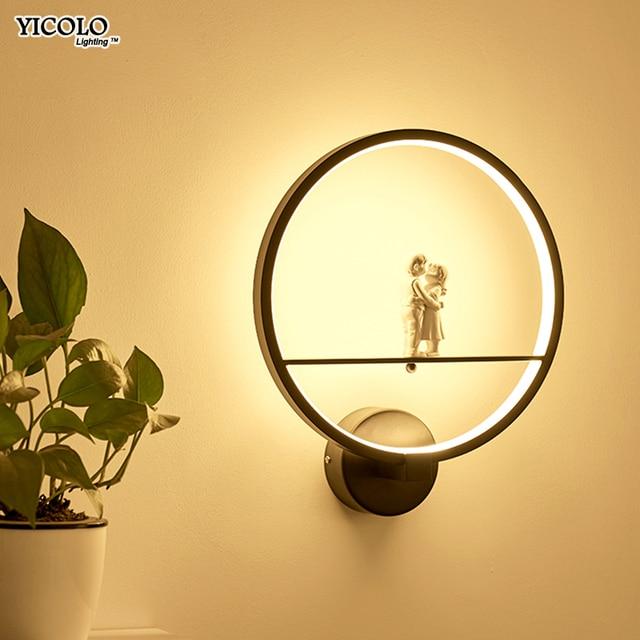 Modern Wall Lamps  art angel Nordic creative for living room bedroom bedside lighting bracket High-power led lustre Home Dero