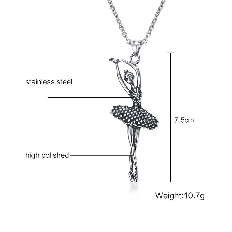 Linsoir 2017 new dancer doll necklace pendant for women stainless linsoir 2017 new dancer doll necklace pendant for women stainless steel ballet ballerina dancer necklace jewelry collier femme in pendant necklaces from mozeypictures Image collections