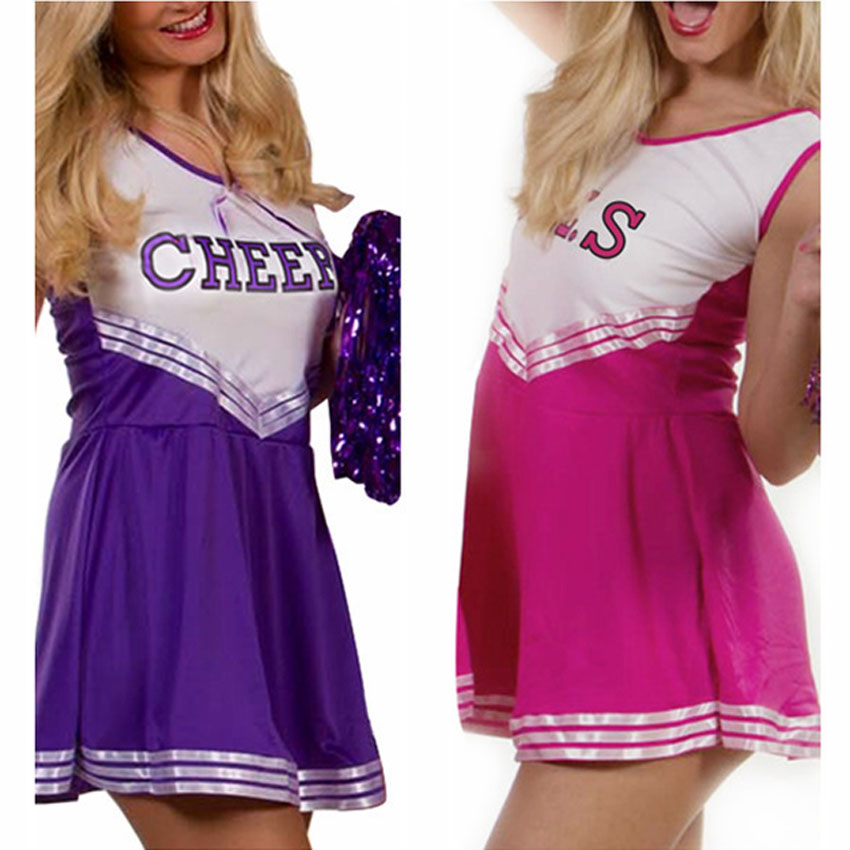 4Colors Female Cheerleader Uniform Plus Size Sexy Dress Class Team Wear Women Clothing University Performance Student Costume