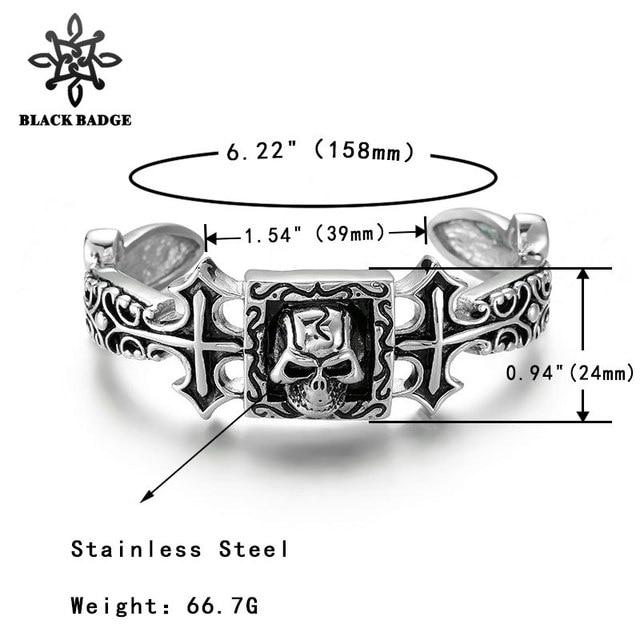 Skull Bracelet Stainless...