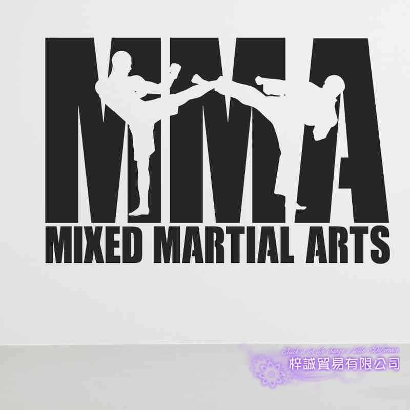DCTAL Boxing Club MMA Taekwondo Karate Sticker Kick Play Car Decal Free Combat Posters Vinyl Striker Wall Decals Decor