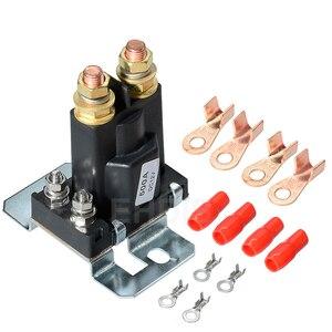 Реле стартера с высоким током 500A 12 В/24 В, 4-контактный Автомобильный Автоматический главный выключатель питания светодиодный изолятор батар...