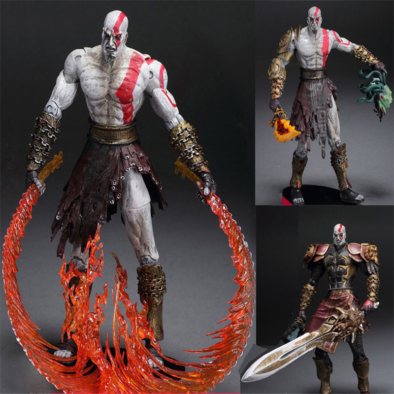 God of War 1pcs 7.5 NECA God of War Kratos in Golden Fleece Armor with Medusa Head PVC Action Figure Collection Toys 12 neca toys god of war action figures 2 infamous kratos figure pvc action figure model toy gw005