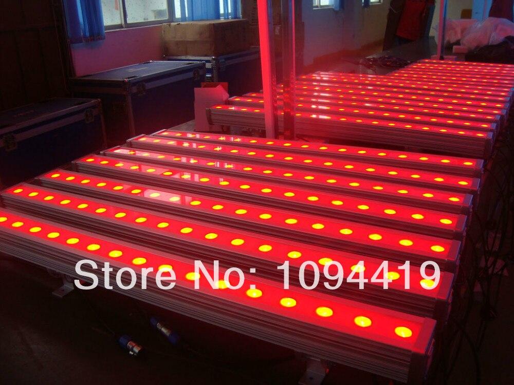 A- 8/lot CE&ROHS dj led linear bar dmx 24x3w waterproof 3 in 1 outdoor lighting fixture led wall light