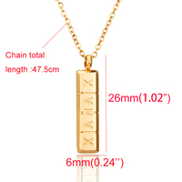 AMORUI Trendy Xanax Vertical Pill Bar Pendant Necklace ID Stainless Steel Women Chain Necklaces Rose Gold Silver Pendant Collier 5