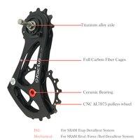 17 т велосипед задний переключатель клетка шкив углеродного волокна для SRAM RIVAL силы красный етапе легкий Керамика подшипник Jockey колеса