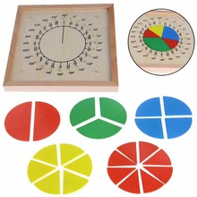 Wooden Montessori Toys Math Geometric Fraction Board Preschool Educational Learning Toys For Kids Juguetes Brinquedos E2264Z