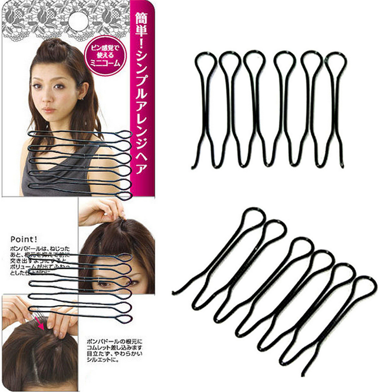 2 Pcs/pack Hot Sale Black Cute Hair Clip Simple Braid Tool Hair Accessories For  Women Girls