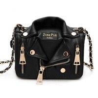 BENVICHED дизайнер сумка Куртка классная в форме панк мотобайк серебро Для женщин сумка Mini Crossbody Bag