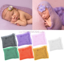Baby Newborn Boy Girl Crochet Knit Mohair Wrap Cloth Photography Photo Props #H055#