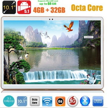 Envío gratis Android tablet pc de 10 pulgadas tabletas 3G4G LTE Octa Core 4 GB RAM 32 GB ROM 1280*800 Cámaras Duales 9.6 10.1 pulgadas