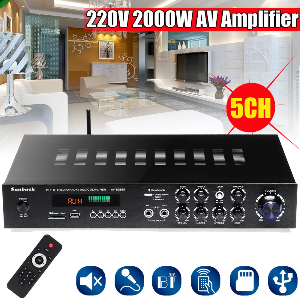 1120W bluetooth Hi-Fi POWER AMPLIFER Stereo Surround Home Karaoke Cinema + RC Car Amplifiers