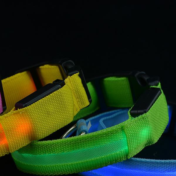 Safety <font><b>Pets</b></font> <font><b>Dog</b></font> <font><b>LED</b></font> Flashing Light <font><b>USB</b></font> Charging <font><b>Nylon</b></font> <font><b>Collar</b></font> Adjustable <font><b>Dogs</b></font> <font><b>Collars</b></font>