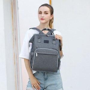 Image 4 - Nappy sac à dos sac momie grande capacité sac maman bébé multi fonction imperméable à leau en plein air voyage sacs à couches pour les soins de bébé