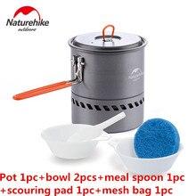 NatureHike Factory Outdoor Camping Heat retention pot Cookware Aluminum alloy Pots Energy-saving Folding Handle Picnic Tableware