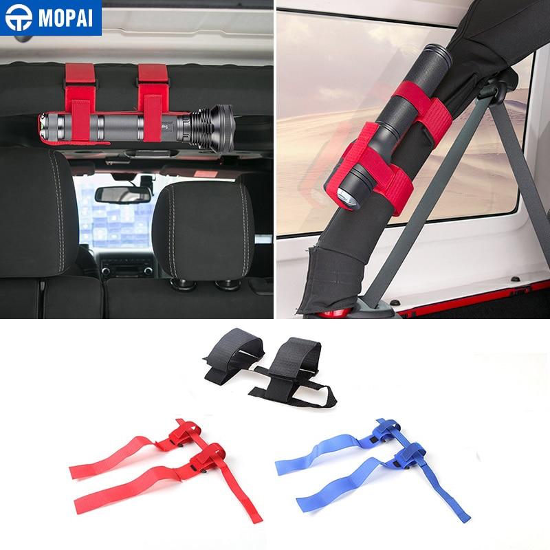 MOPAI Cloth Car font b Interior b font Bandage Roll Bar Flashlight Holder Car Accessories for