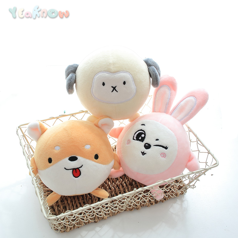 Yeaknow 10cm Cute Plush Squeeze Toys Slow Rising Foam Squishy Ball Plush Animal Soft Puppy Dog Bunny Sheep Anti-stress Dolls
