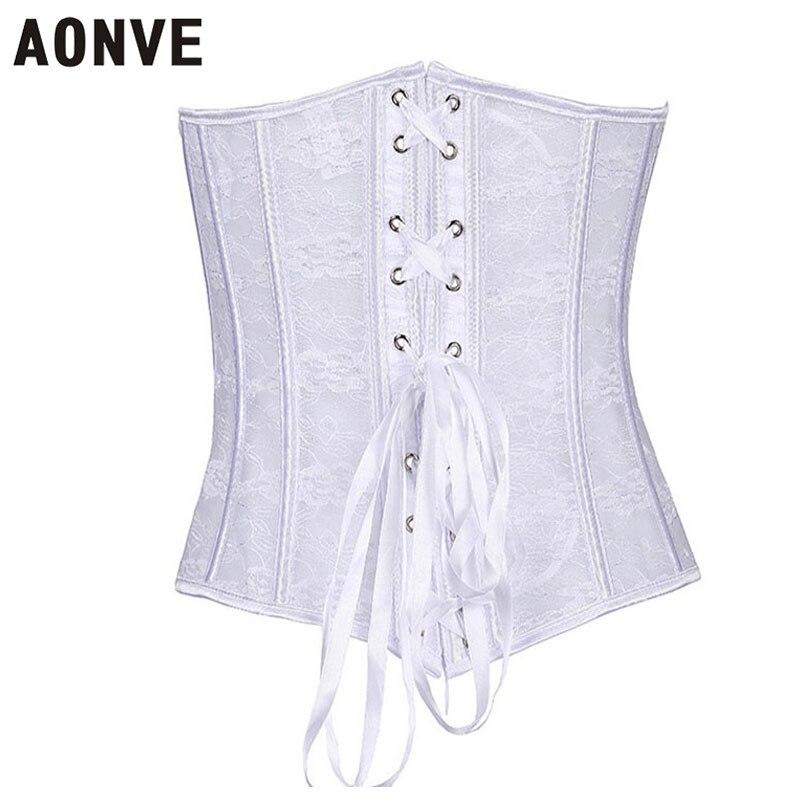 Женский корсет Aonve, белый корсет с прозрачной талией для свадебной вечеринки