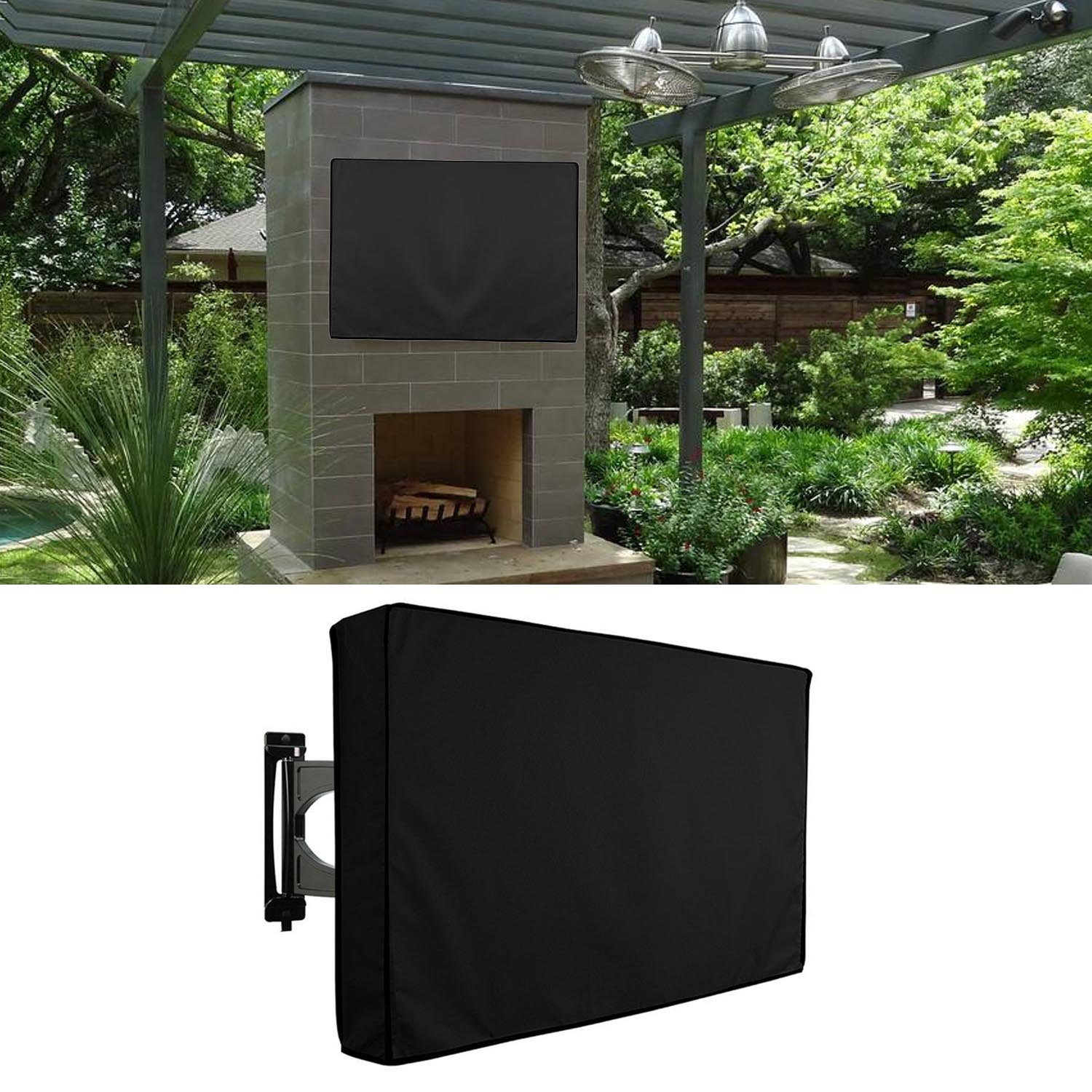 40-42Inch Outdoor TV Cover With Bottom Cover Quality Weatherproof Dustproof Mate