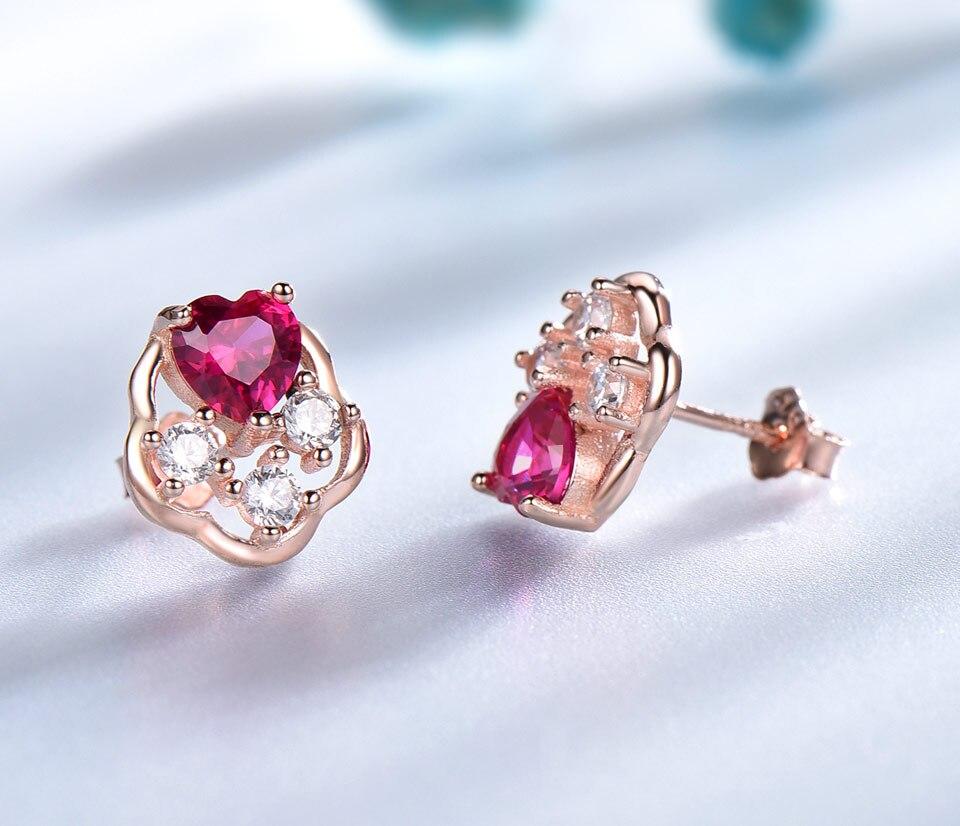 UMCHO-Ruby-925-sterling-silver-stud-earrings-for-women-EUJ076R-3-PC_05