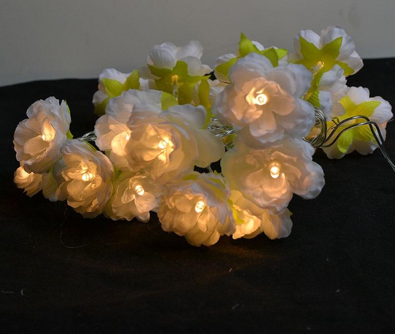 Nyhet 2M / 3M dekorative håndlagde blomsterfe String blomstrete - Ferie belysning - Bilde 6