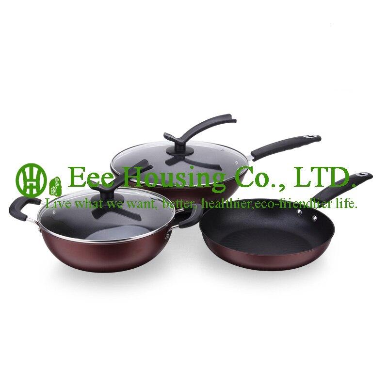 Fonte ironl ustensiles de cuisine, fabricant en chine livraison gratuite set de cuisine, wok pot et poêle à frire et soupe pot cuisine