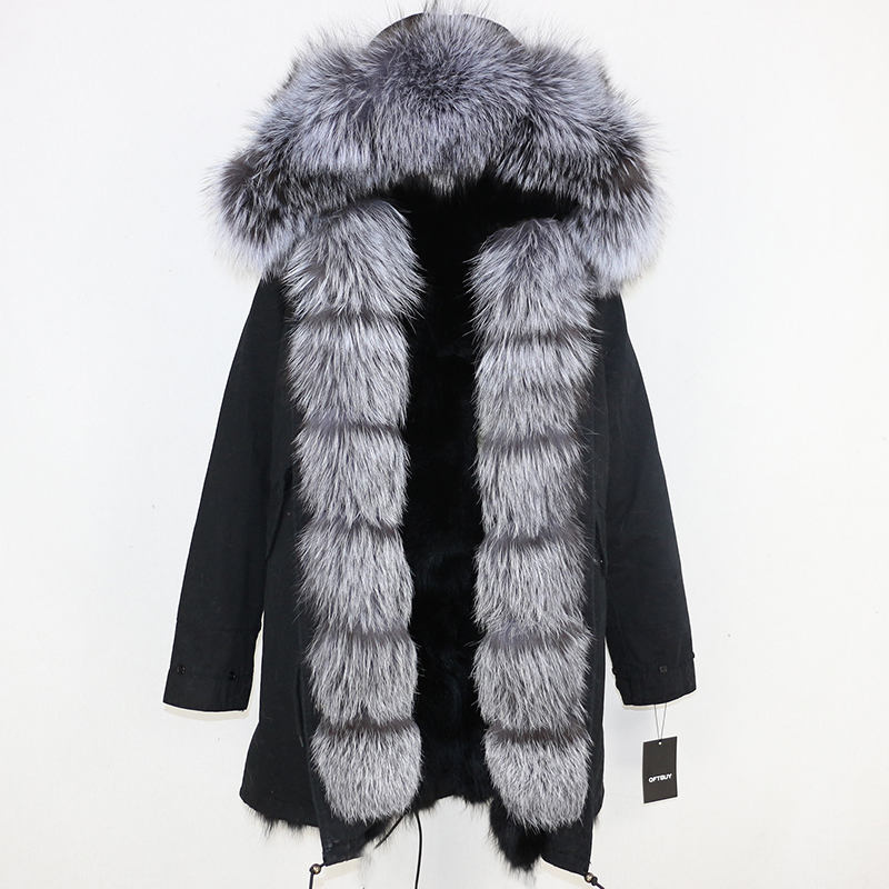 OFTBUY 2019 Winter Jacket Women Long Parka Real Fox Fur Coat Natural Raccoon Fur Collar Hood Thick Warm Streetwear Parkas New 77