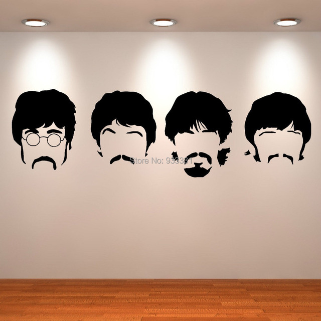 THE BEATLES JOHN PAUL RINGO GEORGE SGT PEPPERS HEAD Vinly wall art ...