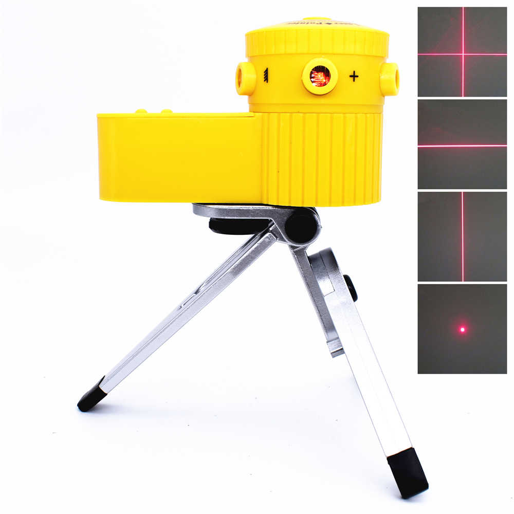 Multifunctional Laser Level Worldwide Vertical Horizontal Cross Line Optical Instruments with Adjustable Tripod for Laying Floor