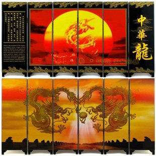 6 Painting Process Screen Living Room Decoration In Chinese Style Dragon Chinese New Year