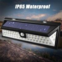 ماء 54 led ضوء 2835 smd الأبيض الطاقة الشمسية في حديقة ضوء الشمسية pir motion الاستشعار الممر جدار مصباح 3.7 فولت