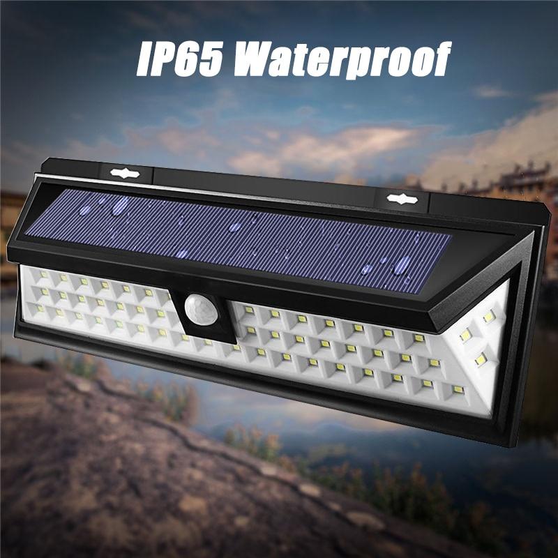 Waterproof 54 LED Solar Light 2835 SMD White Solar Power Outdoor Garden Light PIR Motion Sensor Pathway Wall Lamp 3.7V
