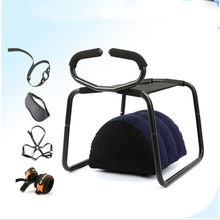 Sex furniture Bounce Stool No Gravity G-Spot Love Sex Chair with Inflatable Pillow Handcuffs Breast Bar Mask Ring Gag(China)
