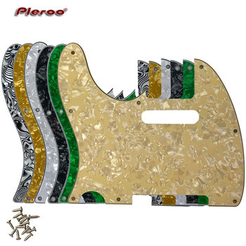 Pleroo Guitar Parts - For US Left Handed Standard 8 Screw Holes 62 Year Tele Telecaster Guitar Pickguard Scratch Plate newest arrival china oem satin cherry finish lpj electric guitar left handed guitar custom available