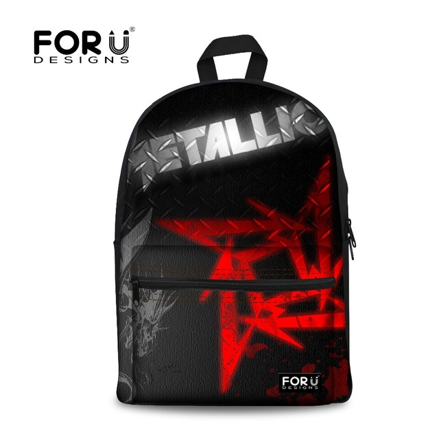 FORUDESIGNS Metallica Skull Printing Backpack for Teen boys 2017 Children School Backpacks Bags Men Bagpack Students Back Pack