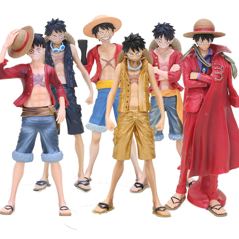 Us 7 8 20 Off One Piece Dxf Monkey D Luffy Figure Anime Straw Hat Luffy Film Gold Special Ver Figure Collectible Model Toy In Action Toy Figures