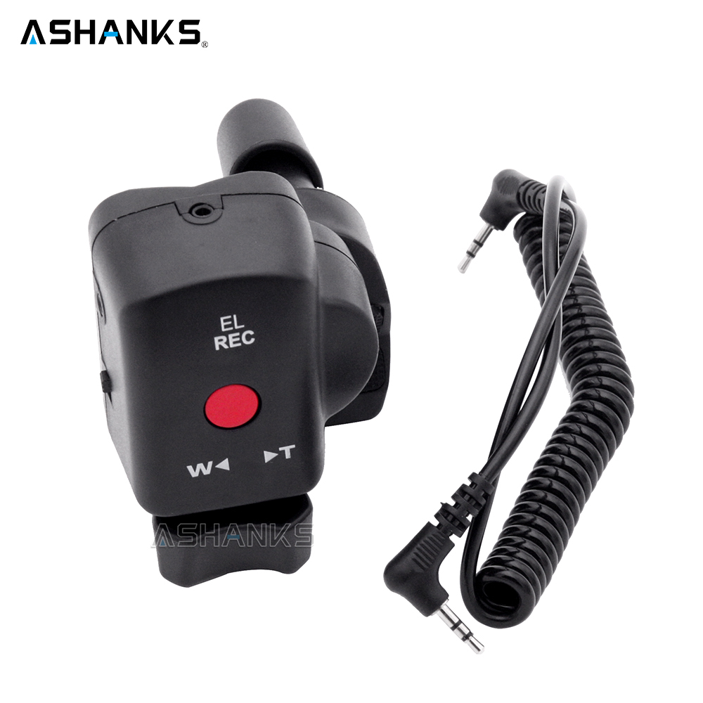 ASHANKS DSLR Camera Pro Zoom Control for Sony LANC A1C 150P Panasonic 180A 130AC DV ACC Remote Controller for Fotografica Video