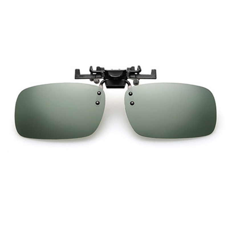Pilot Polarized Sunglasses Vision Nocturne Toad Lentille Flip Up Clip Sur Lunettes De Soleil wQZeM9Etu