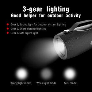 Image 4 - ZEALOT S29 Không Dây Bluetooth Fm Radio Di Động Loa + Đèn Pin + Đèn Công Suất Ngân Hàng + Hỗ Trợ Thẻ TF, đèn LED Cổng USB