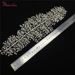 Image 5 - El yapımı kristal Rhinestones Tiaras ve taçlar düğün kafa bandı başlığı gelin saç parçası balo Pageant aksesuarları RE3169