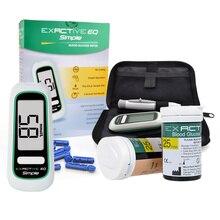 CE FDA Certificado Diabéticos glucometro Monitor de Prueba Metros Monitor de Glucosa En Sangre de Azúcar En sangre 50 tiras de 50 Lancetas