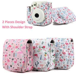 Image 3 - Optional Carry PU Leather Bag Case Cover with Shoulder Strap For Fujifilm Instax Mini 9 Mini 8 Mini 8+ Instant Film Photo Camera