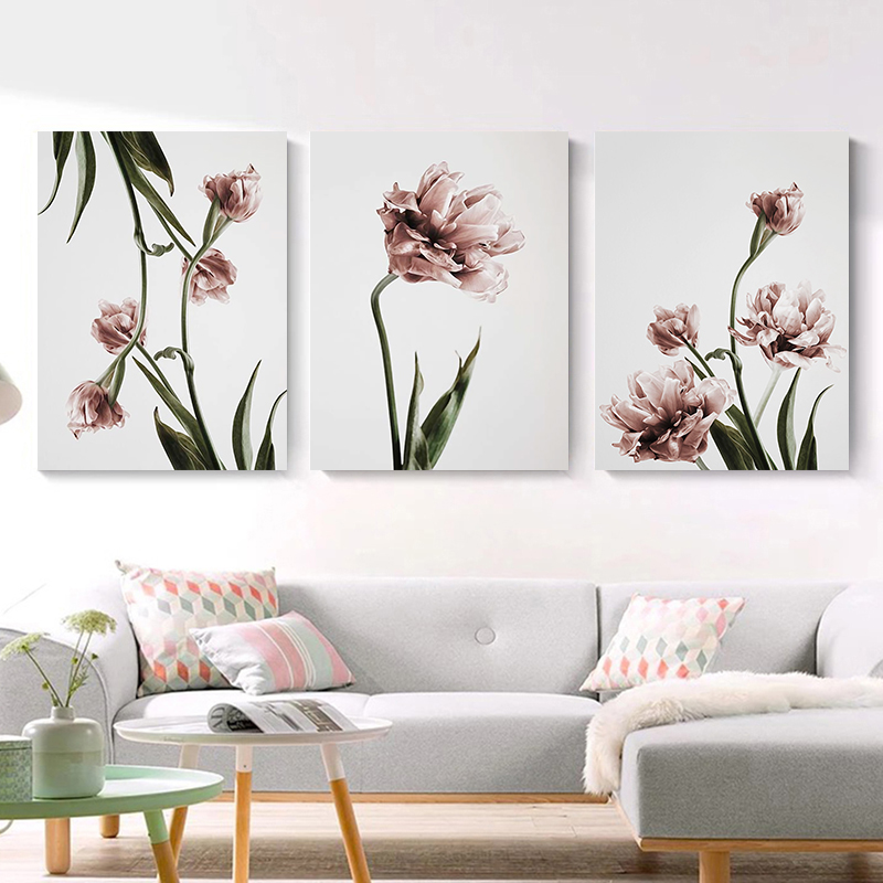 Green Plant Flower Canvas Art Painting Abstract Print Poster Picture Wall Living Room Bedroom Dining Room Modern Home Decoration