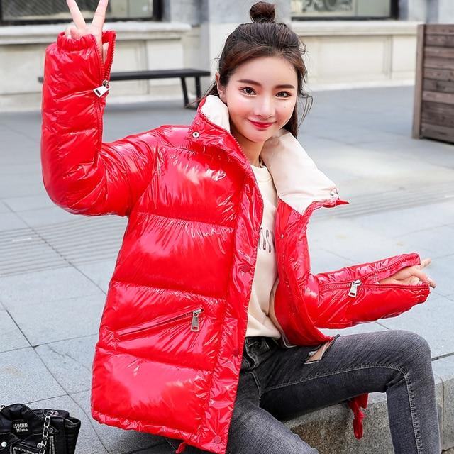 Winter Jacket Women parka Ultra Light Down No Hat Long Sleeve Warm Slim Coat Parka Female Solids Outwear abrigos mujer invierno 1