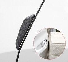 4pc for SKODA KODIAQ Car door Crash bar Scuff Scratch carbon fibre