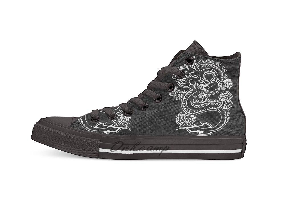 Lóng le Dragon décontracté haut chaussures en toile baskets pour la livraison directe