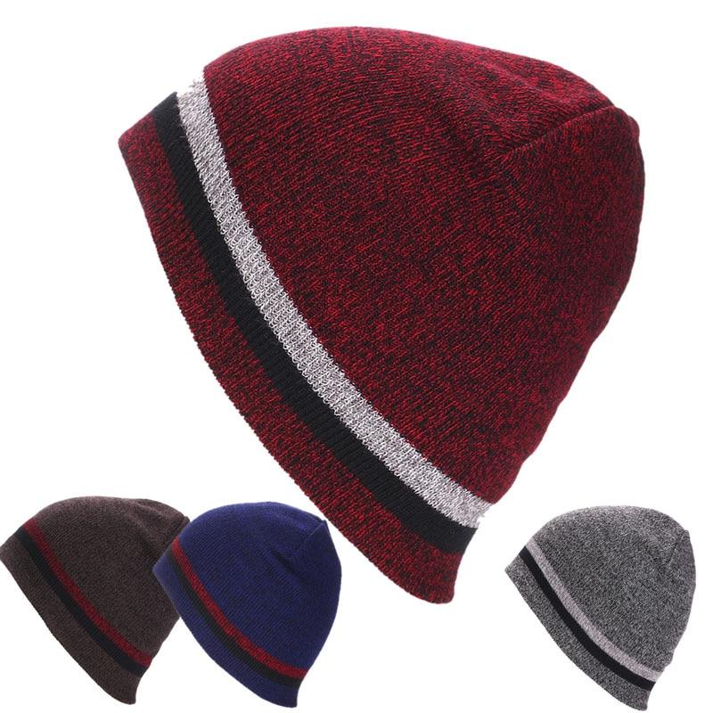 Women Winter Skull Men Knit Beanie Reversible Baggy Crochet Cap Warm Unisex Hat men women crochet knit plicate baggy beanie wool blend hat skull winter warm cap y107