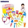 Venta caliente 30 Unids Mini Kids Doctor juegos de Rol de La Enfermera Médica Set Case Kit Para Bebés De Plástico Populares Decoración Del Rompecabezas juguetes Educativos de La Ciencia juguete